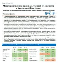Мониторинг цен на основные виды продовольственных товаров и прогнозы в Кыргызской Республике, январь 2016 г.